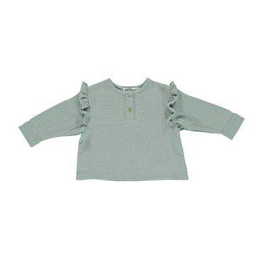 Organic Kaia Blouse, Slate Grey