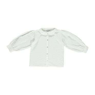 Organic Leslie Blouse, Natural White