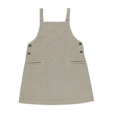 Organic Viktoria Pinafore, Simple Taupe