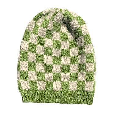 Checked Hat, Green