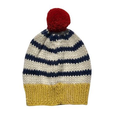 * Exclusive* Nautical Striped Pom Hat