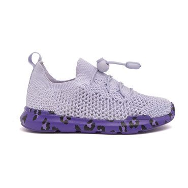 Sutherland Sneaker, Lavender with Leopard Sole