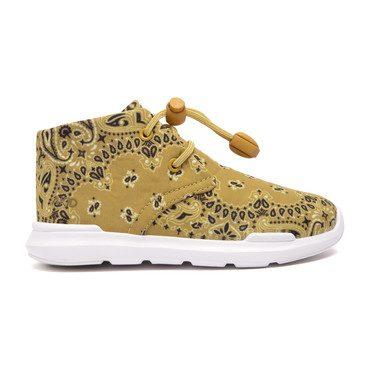 Remington Sneaker, Mustard Yellow Bandana Print
