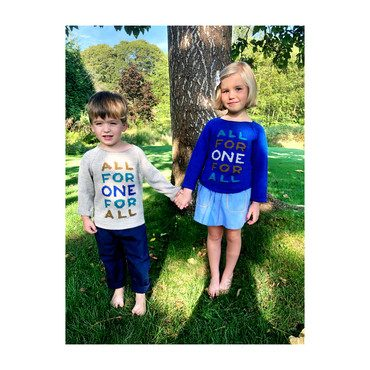 *Exclusive* All For One Raglan Sweater, Cobalt Blue