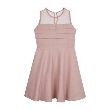 Romantic Mesh Party Dress, Pink