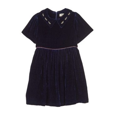 Velvet Party Dress, Midnight