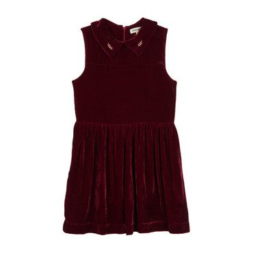 Velvet Party Dress, Bordeaux