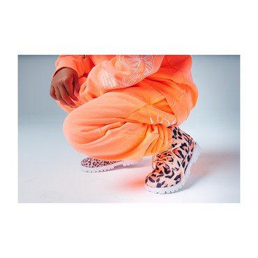 Mismatch Atticus Boot, Pink Leopard