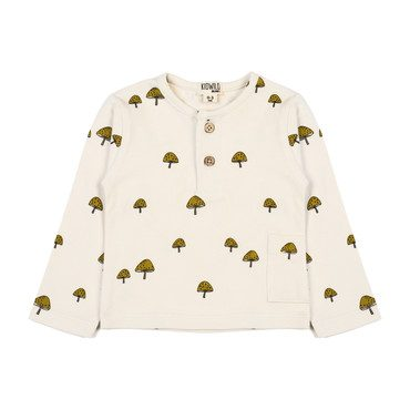Long Sleeve Top, Mushroom