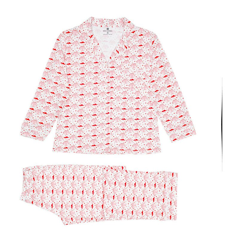 Carmen Women's Pajamas, Pink Flying Piggies