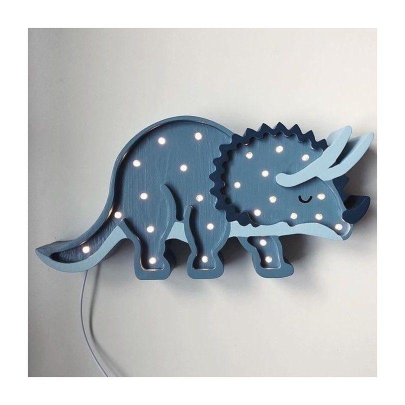lampada azul para o quarto do bebê do tema de dinossauro