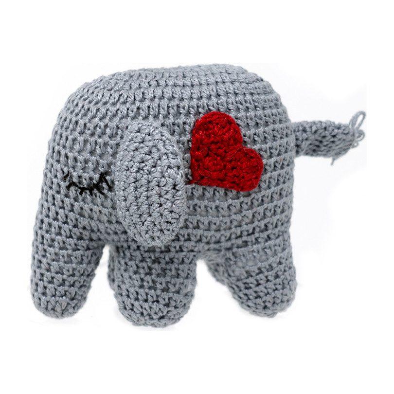 Red Heart Ellie and Eugene Crochet Elephants | Yarnspirations | 810x810