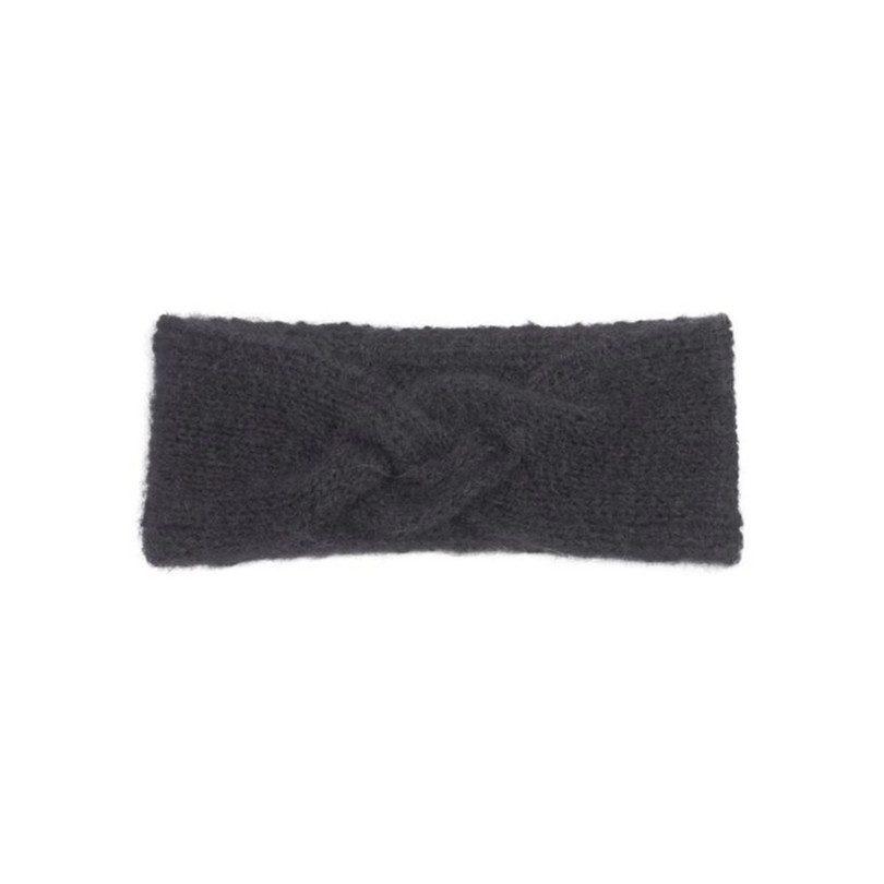 Mohair Headband, Navy